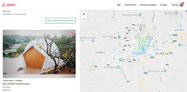 Xem trong phần danh sách phòng yêu thích của bạn tại Airbnb, bạn có thể dễ dàng biết được nơi ở nào ở gần trung tâm, nơi nào xa trung tâm.